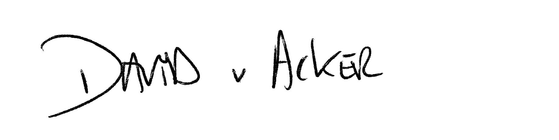 David Van Acker signature